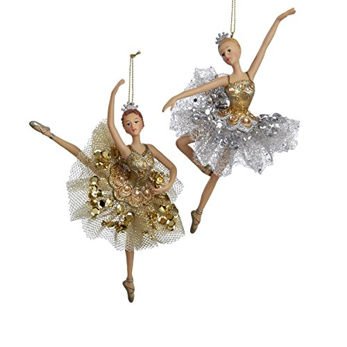 Kurt Adler 6.25″ Resin Ballerina Ornament Set