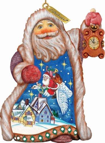 G. Debrekht Santa Christmas Goose Ornament, 5″