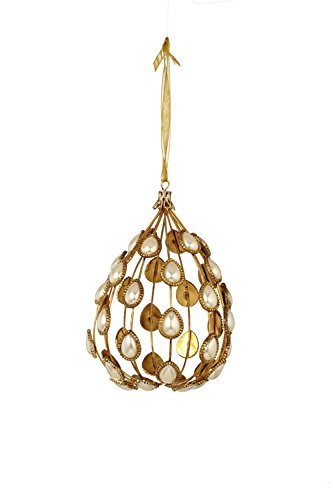 Sage & Co. XAO17309PE 4 Pearl Ball Ornament by Sage & Co.