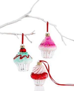 Holiday Lane Box of 3 Mini Cupcake Ornaments