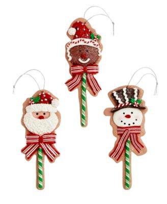 Holiday Lane Set of 3 Lollipop Ornaments