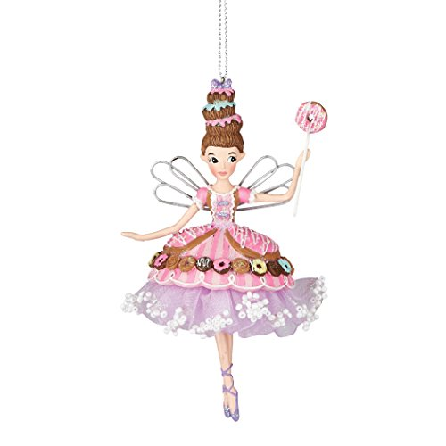 Department 56 Mrs Claus' Sweet Shoppe Christmas Trim Gigi Donut Fairy Ornament 5.In