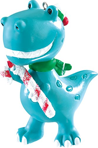 Carlton Heirloom Ornament 2016 Grandson – Dinosaur with Candy Cane – #CXOR010K