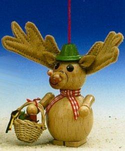 Steinbach Picnic Rudolph Reindeer Wood Ornament