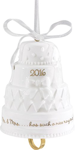 Carlton Ornament 2016 First Christmas Together – Porcelain Wedding Cake CXOR002K