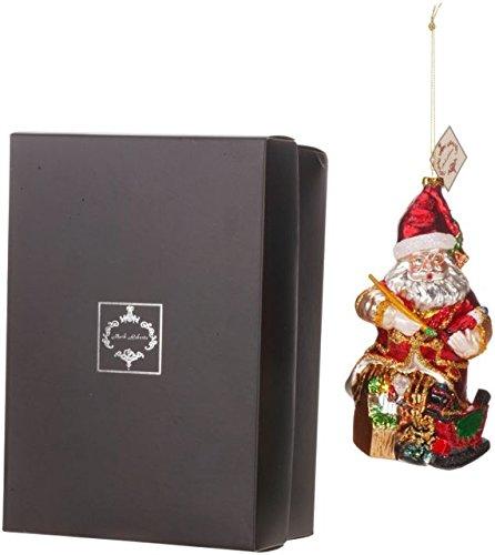 Mark Roberts Blown Glass Workshop Santa Ornament Beautifully Gift Boxed