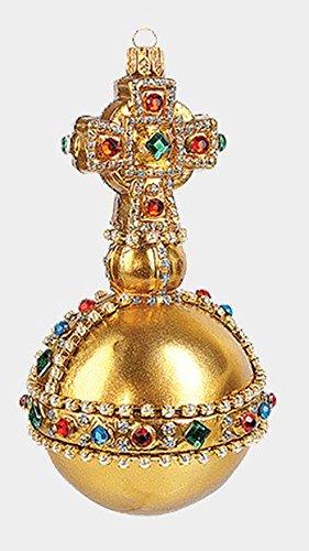 Sovereigns Orb Royal British Crown Jewel Glass Christmas Ornament Decoration