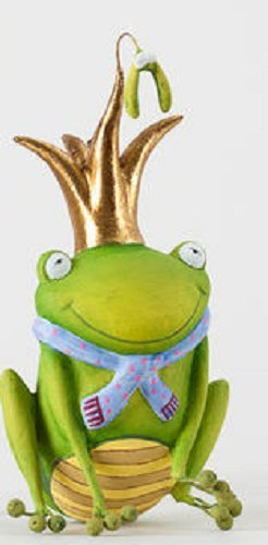 Mistle Toes 4″ Resin Ornament Frog Prince