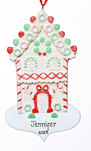 House Christmas Holiday Sugar House Ornament-Free Name Personalizatiojn-Shipped In One Day
