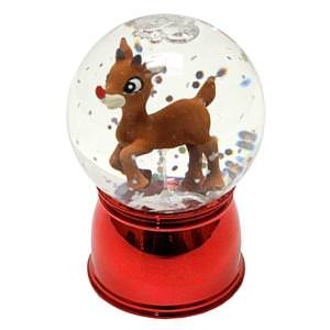 Roman 46750 – 3″ Rudolph Wibble Wobble Color Changing LED Mini Glitter Dome (Battery Operated)