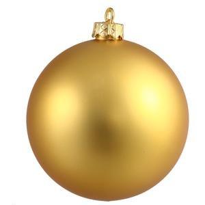 Vickerman 8″ Gold Matte Ball Ornament