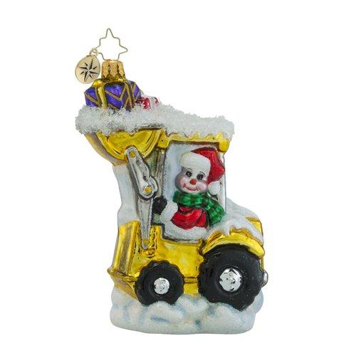 Christopher Radko Load em Up Santa Claus Snowman and Transportation Christmas Ornament