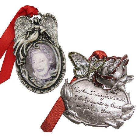 2-Piece Set, Personalized Memorial Christmas Ornament
