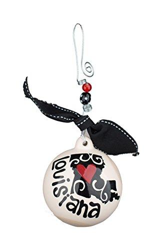 Glory Haus Louisiana Ball Ornament, 4.5″