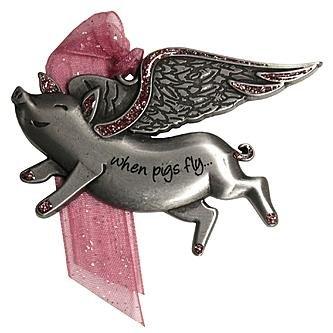 Gloria Duchin Flying Pig Ornament
