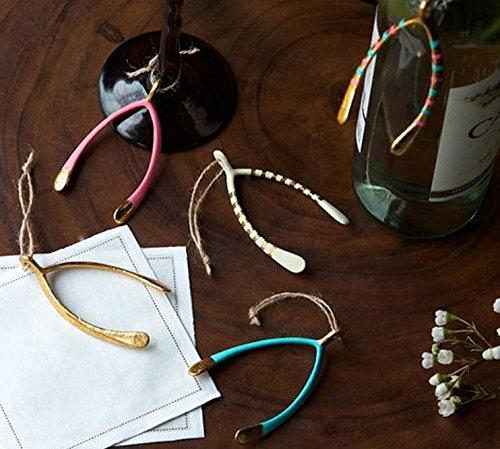 One Hundred 80 Degrees Wishbone Hanging Ornaments (set/5)