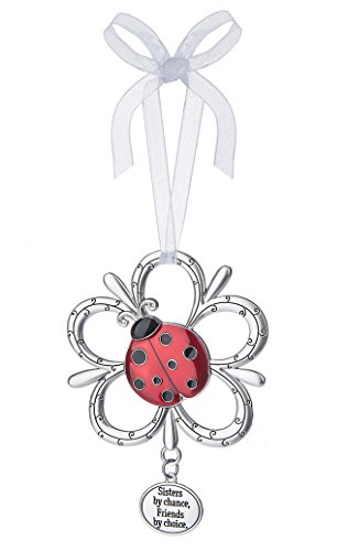 Sisters by Chance, Friends by Choice Ladybug Ornament – By Ganz