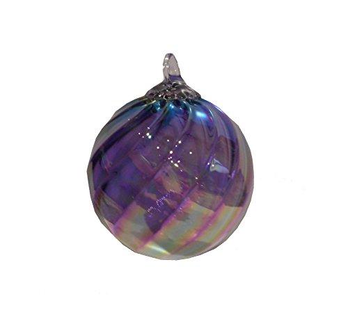 Glass Eye Studio Round Ornament Syrah Twist February (Purple)