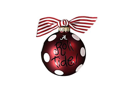 Coton Colors Alabama Dot Glass Ornament