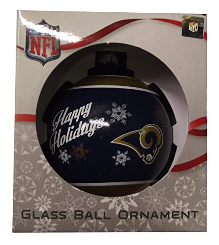 Forever Collectibles NBA, NFL, MLB and NHL Glass Ball Ornaments (Rams)