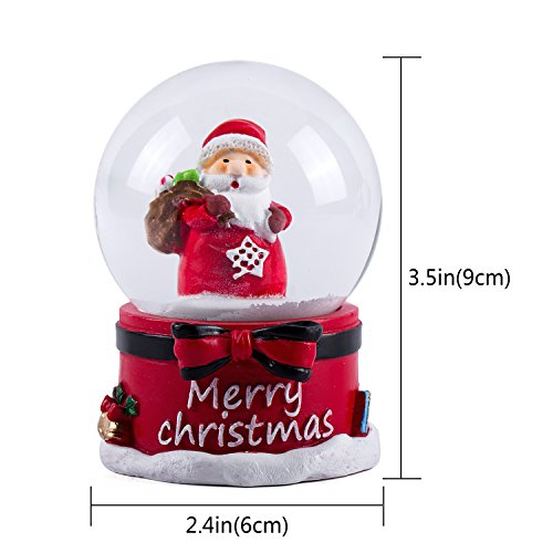 WOBAOS Snow Globe crafts- Sculptured Resin Water Ball – Christmas Valentine's day birthday holiday new year's gift (Diameter 60mm)