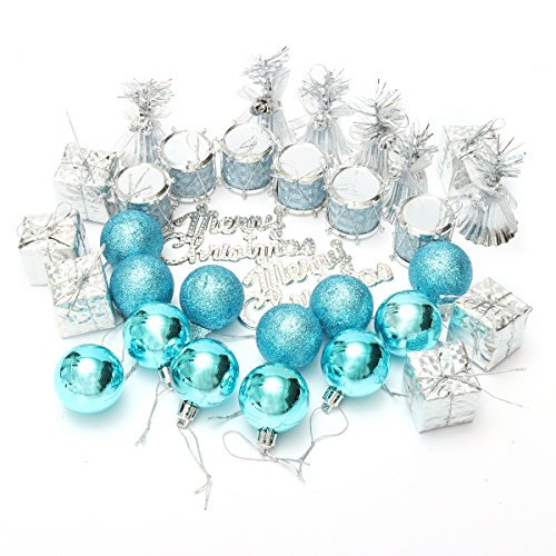 Ochi&Moji Christmas Bells and Christmas Balls For Christmas Tree Ornament 32pcs Pendant