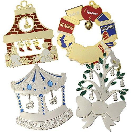 Personalized Gloria Duchin Charming Christmas Ornaments, 12-Piece Set