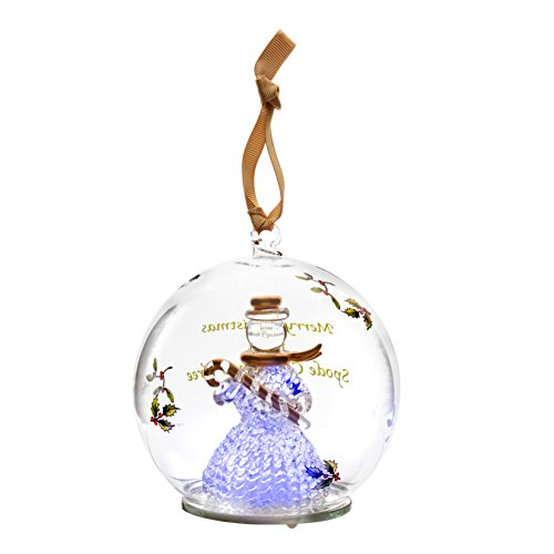 Spode Christmas Tree Glass Ornament, Snowman