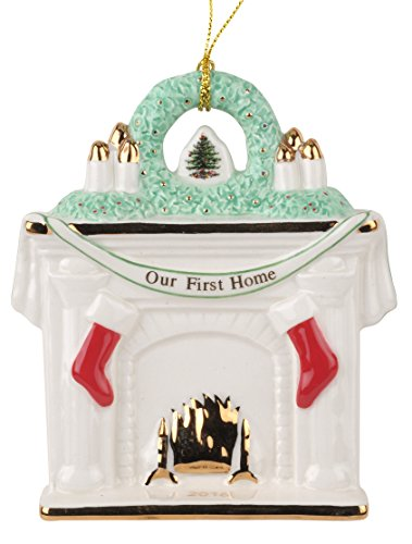 Spode Christmas Tree Our First Home Fireplace Ornament 2016