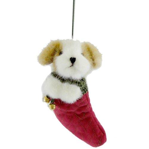Boyds Bears Plush JINGLEBEARY DOG IN STOCKING 562952 Christmas Dog Ornament New