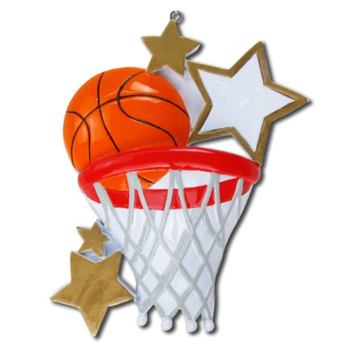 Basketball Personalized Christmas Ornament by Polar X