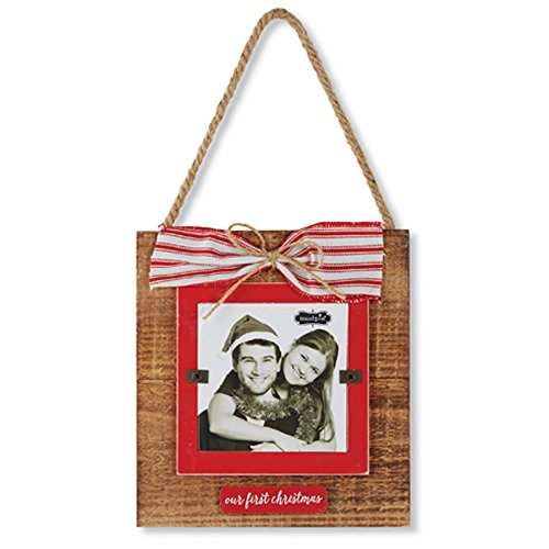 Mud Pie Holiday Hanger Family Frame (OUR FIRST CHRISTMAS HNGNG FRM)