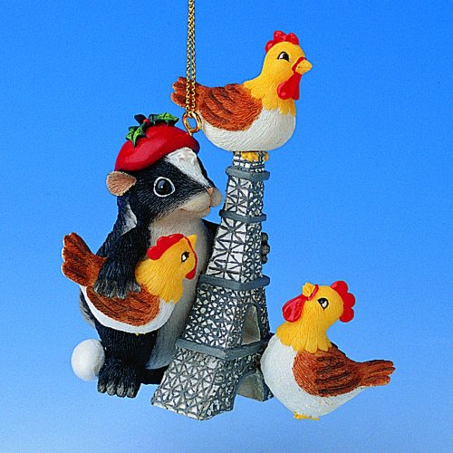 12 Days of Christmas Ornament #3 -Three French Hens