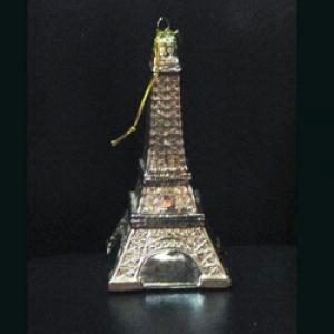 Kurt Adler 5-1/2-Inch Noble Gems Glass Eiffel Tower Ornament