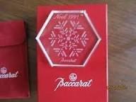 Baccarat 1991 Noel Snowflake Crystal Ornament