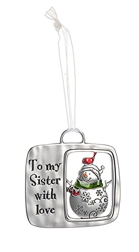 Christmas Tidings Ornament: To My Sister With Love – By Ganz