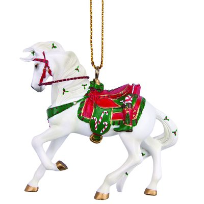 Enesco Trail of Painted Ponies Santa's Stallion Ornament, 2-Inch