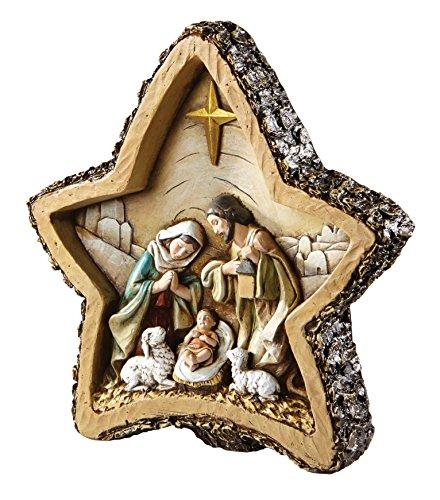 CB Gift WC123 Avalon Gallery Woodcut Star Nativity Figurine, 8″ ,,