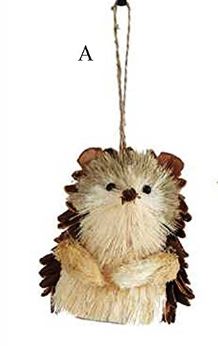 Creative Co-op Country Christmas Collection Sisal Hedgehog Ornament, Choice of Style (A)