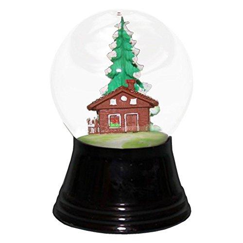 """PR1223 – Perzy Snowglobe, Small Chalet – 2.75″""""H x 1.5″""""W x 1.5″""""D"""