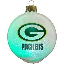 Green Bay Packers Color Changing LED Ball Ornament