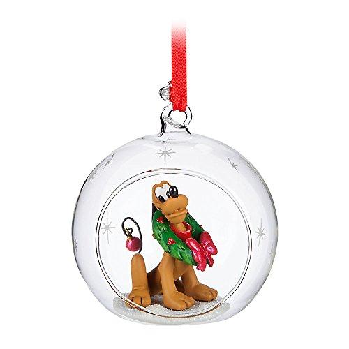 Disney Pluto Glass Globe Ornament