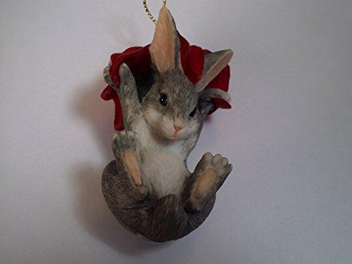 Charming Tails Binkey's Poinsettia Ornament