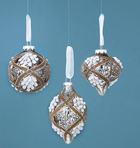Sage XAO11058PL Vintage Pattern Glass Ornament – Set Of 12