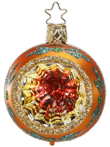 Christmas Sparkles – Tangerine, #1-015-13c, by Inge-Glas of Germany