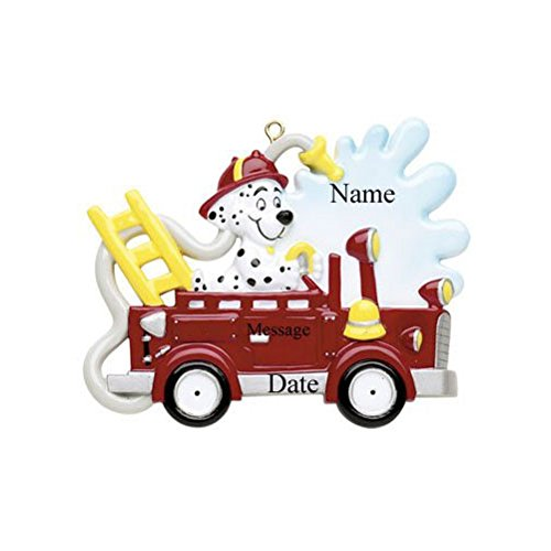 Fire Truck Dog Ornament