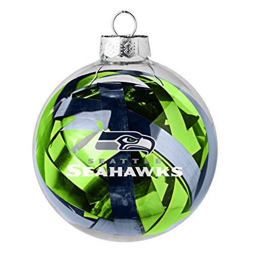 NFL Seattle Seahawks Large Tinsel Ball Ornament