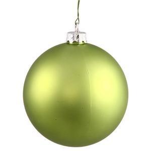 Vickerman 6″ Lime Matte Ball Ornament 4 per Box