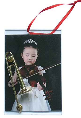 Picture Frame Ornament with Trombone