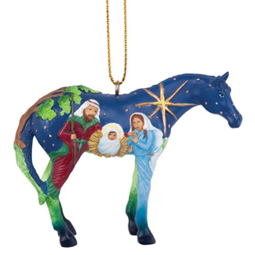 Enesco Trail of Painted Ponies Faith Ornament, 2.1-Inch